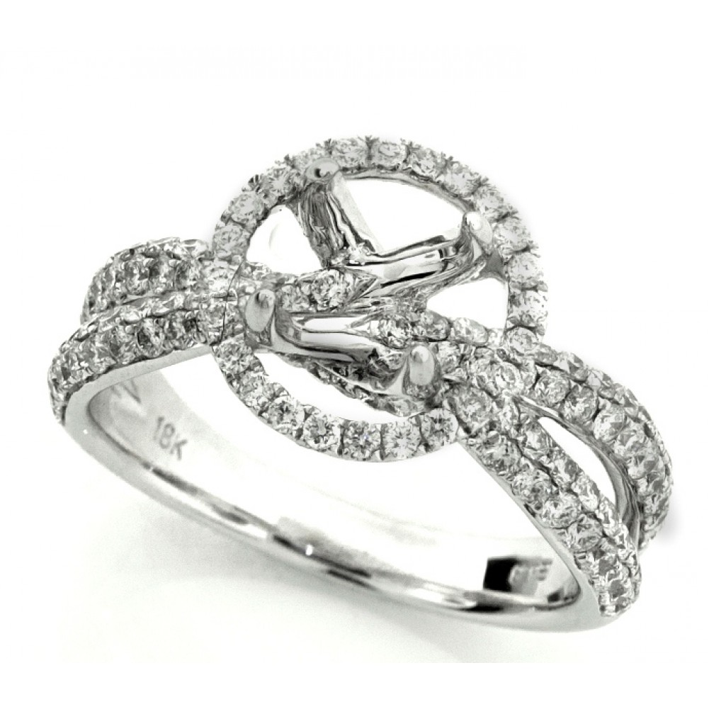 Diamond Micro Pave Halo With Split Shank Setting