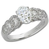 1.97 Ct Oval Diamond Engagement Ring With Side Stones