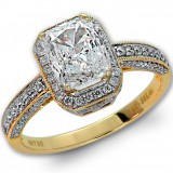 2.02 CT Cushion Cut Diamond Engagement Ring With Halo in 14K Yellow Gold