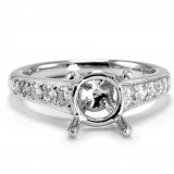 Chanel Bead 4 Prong Diamond Engagement Ring setting
