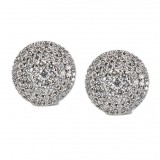 18KT White Gold Micro Pave Diamond Circle Earrings 3.94CT TW