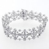14.11 Cts Diamond Bracelet set in 18 K white gold