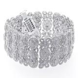 32.00 Cts Diamond Bracelet set in 18K white gold
