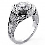 Engagement Ring Round Cut Diamond 1.72 Cts