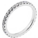 1.00 Cts Round Cut Diamnd Eternity Wedding Band Set in 14K White Gold