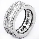 3.82CT DIAMOND BAGUETTE RING 14K ET5111