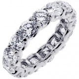 7.2 Cts Round Cut Diamond Eternity Band Set in Platinum