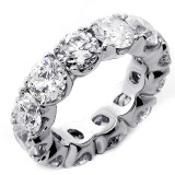 9.50 Cts Round Cut Diamond Eternity Band set in 14K White Gold