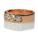 2.30 Cts. Rose Gold 4 Diamonds Men's Ring