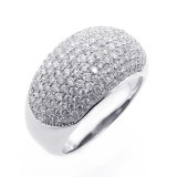 1.91CTS DIAMOND MICRO-PAVE COCKTAIL RING SET IN 14K WHITE GOLD