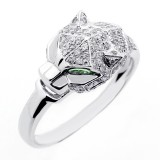 0.71 CTS DIAMOND COCKTAIL RING SET IN 14 K WHITE GOLD