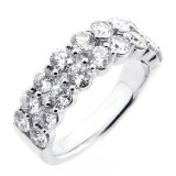 2.32 CTS ROUND CUT DIAMOND RING SET IN 18K WHITE GOLD