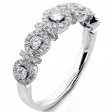0.57 Ct. Diamond Halo Ring Set in 18K White Gold