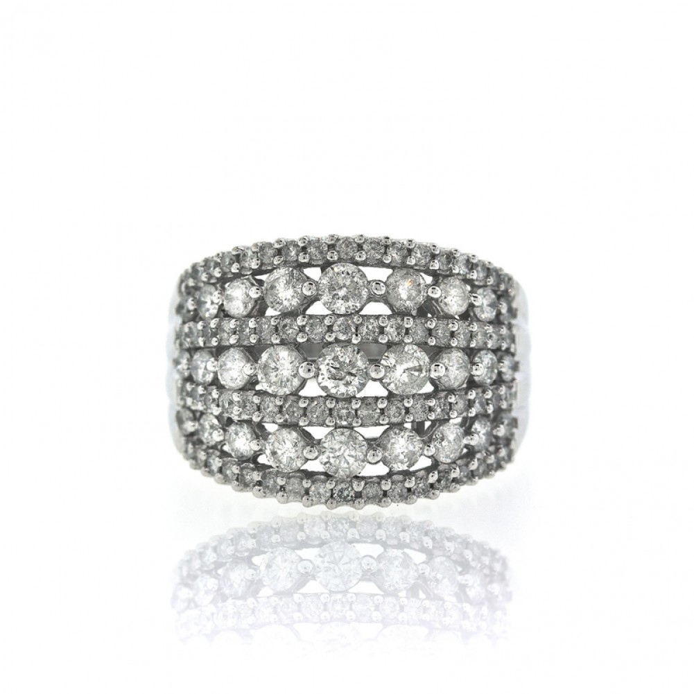 7 Row Wide Diamond Right Hand Ring Cheap Diamond