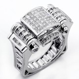 1.60 Cts Diamond Mens ring set in 14K white gold