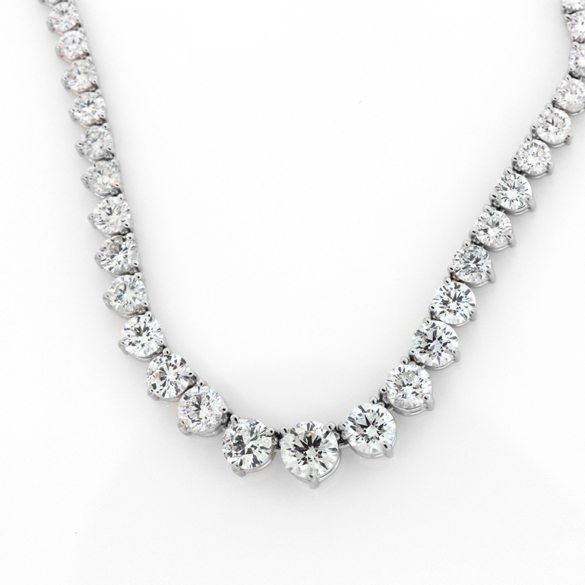 10 26cts Tw Graduated Diamond Tennis Necklace Cheap