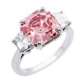 5.68ctw Asscher/Trillion Cut Diamond Ring PLATINUM