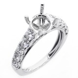 1.00 Cts Diamond Engagement Ring Setting set set in 18K white gold