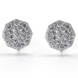 Octagon Micro Pave Diamond Earrings 3.94CT TW