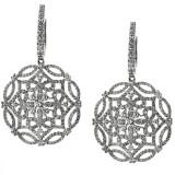 2 1/3 CT Diamond Drop Earrings 18Kt White gold