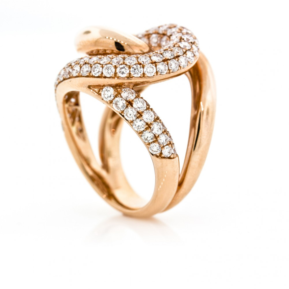 2 28 Cts 18K Rose Gold La s Diamond Right Hand Ring Cheap Diamond Engageme